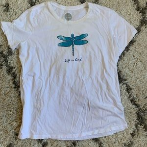 Life is Good dragonfly T-shirt